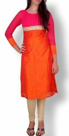 Buy Raw Silk Kurtis Design - 5