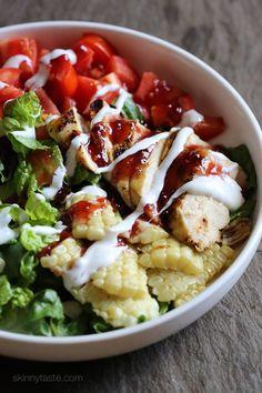 BBQ Chicken Salad | Skinnytaste.com | Bloglovin' #Bbqchicken