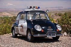 1970 Subaru 360 Police Car. I doubt it caught many fleeting suspects, lol