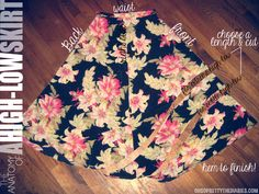 Hi-low skirt DIY - looks like I will be hitting some consignment stores...