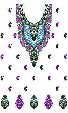 9291 Dress Embroidery Design