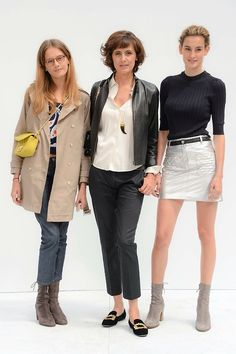Even the divine Inès looks frumpy without her trademark belted waist | Violette d'Urso, Inès de la Fressange and Nine.