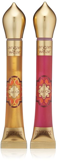 Physicians Formula Argan Wear Ultra-Nourishing Argan Lip Oil Duo, Liquid Gold/Pink, 0.6 Fluid Ounce >>> Awesome product. Click the image   Makeup lips