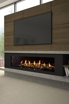 Fantastic Photo Fireplace Hearth with tv Strategies Meet the Regency City Series™ New York Zero clearances to TV or artwork! Tv Above Fireplace, Linear Fireplace, Fireplace Tv Stand, Fireplace Hearth, Home Fireplace, Living Room With Fireplace, Gas Fireplaces, Electric Fireplaces, Modern Fireplaces