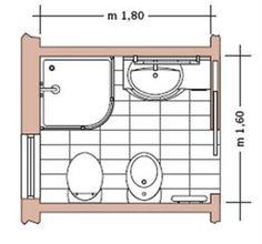 22 immagini strepitose di bagno planimetria bathroom plants in bathroom e apartment bathroom - Pianta bagno piccolo ...