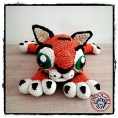 Crochet tiger www.facebook.com/zwooczki #crochet #amigurumi #babytiger