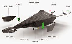 Carbon Flyer Bluetooth Controlled Super Tough Crash Proof Video Drone (video)