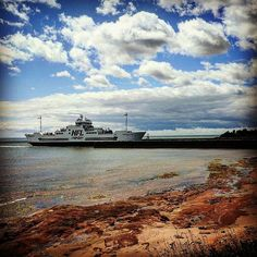 Enjoy a cruise across the Northumberland Strait between Caribou, Nova Scotia and Wood Islands, PEI with Northumberland Ferries. Ferry Boat, Prince Edward Island, Nova Scotia, Boats, Sailing, Cruise, Nfl, Ships, Clouds