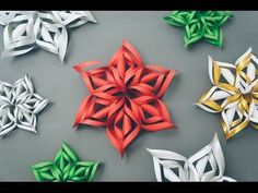 Easy WikiHow on paper cutting snowflakes/stars/flowers (kirigami) (Diy Paper Snowflakes) Christmas Fun, Holiday Fun, Christmas Decorations, Christmas Ornaments, 3d Paper Snowflakes, Paper Stars, Snowflake Craft, Snowflake Designs, Holiday Crafts