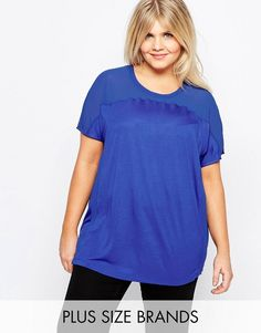 Junarose Short Sleeve Mesh Insert T-Shirt