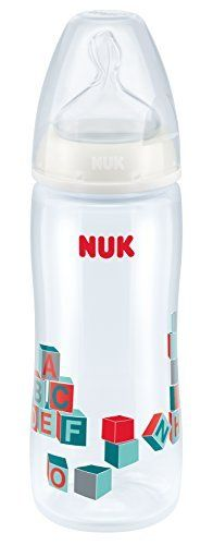 NUK First Choice Plus 10216145 Polypropylene Baby Bottle 360 ml with Silicone Teat, Size 2XL, 6-18 Months, Colour Cannot Be Chosen by NUK - $67.36