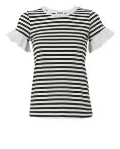 Eyelet Sleeve Striped Tee Intermix (affiliate link)