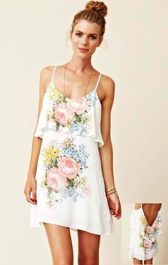 Chic Summer Look, floral dress by Blu Moon.