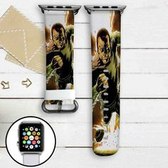 Black Adam DC Comics Custom Apple Watch Band Leather Strap Wrist Band Replacement