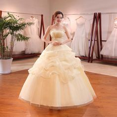 Buy Hot Sale Wholesale Champagne Red White Wedding Dress 2018 New Arrival  Ruffles Appliques Sweetange Korean Style bride Summer 064f29c27fea