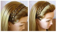 Tuto coiffure simple et rapide  Tresse serre-tête cheveux long/mi long ...