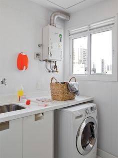 máquina front + tampo da cozinha extendido = mais espaço!
