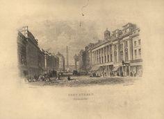 Grey Street Newcastle upon Tyne, UK. Circa 1850