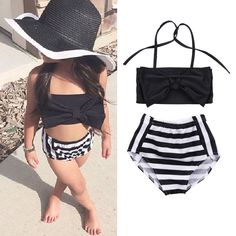 13f20078e8738 Toddler Kids Baby Girls Tankini Bikini Set Swimwear Swimsuit Bathing  Beachwear Girls Bathing Suits, Summer