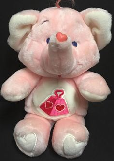 Vintage 1984 Lotsa Heart Elephant Care Bear Cousin Plush Stuffed Animal Kenner  | eBay