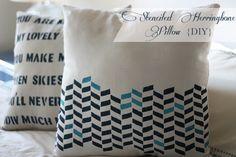 herringbone pillow diy