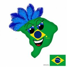 New Brazil Plushky Design #kids #toys #global #culture #multicultural #globalkids #Brazil