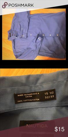 Nautical non iron MENS button up shirt Blue MENS NAUTICA button up shirt. Non iron easy care Nautica Shirts Casual Button Down Shirts