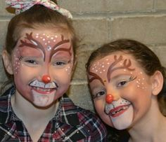 Face paint Reindeer Face Paint, Face Paintings, Carnival, Projects, Log Projects, Carnival Holiday