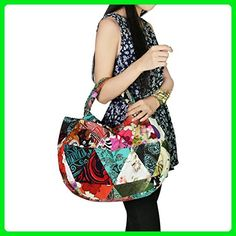 3ac22f92ccd kilofly Bohemian Top Handle Cloth Shoulder Bag Handbag Tote, Patchwork -  Totes (*Amazon