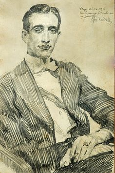 Portrait, 1925 by Józef Mehoffer 1869-1946 (Polish)