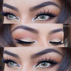 Peach & Golden Eye Makeup Look - Perfect for Spring and Summer!