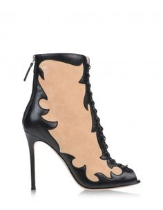 Gianvito Rossi Peep-Toe Bootie - Shop the rest 21 fall shoe trends at ShopBazaar.com http://shop.harpersbazaar.com/trends/fall-s-best-in-shoe