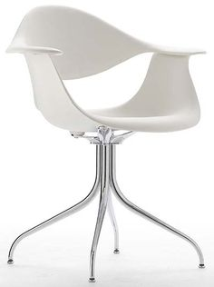 swag leg molded white chair   Knock-off in style