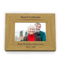 Oak Finish 6x4 Formal Landscape Frame | Photo Frames | Exclusively Personal