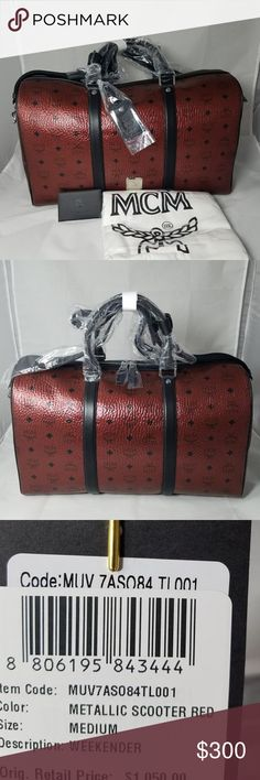 Brand New Authentic MCM Weekender Bag Brand New Authentic MCM Weekender Bag Everything will be included Text or email me before purchasing at 929-350-1819 or zoeyj34@aol.com MCM Bags Travel Bags