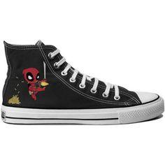 Deadpool Mini Hero Chibi Canvas Shoes Hi Top Unisex Trainers Boots Superhero