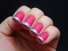 matte vs. glossy French manicure