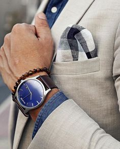 Blue/Brown Leather   MVMT Watches