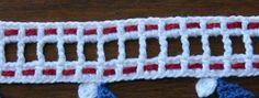 """PAP Resumido : Este detalhe com a linha vermelha é feito em dois fios com agulha de costurar; FAZENDO O """"NOEL"""" - PAP - Explicativo ....."""
