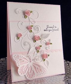 Pink Rose Butterfly | Found on scrapbooking247.com