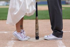 An Adorable Baseball Themed Wedding | Woman Getting Married