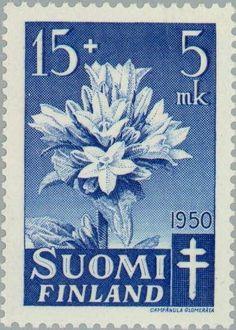 Stamp: Clustered Bellflower (Campanula glomerata) (Finland) (Fight against TBC) Mi:FI 394