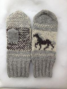 Ravelry: Icelandic Horse Mittens pattern by Sonja Lehto Knitted Mittens Pattern, Knit Mittens, Knitting Patterns, Baby Mittens, Icelandic Horse, Horse Pattern, Needles Sizes, Ravelry, Swatch