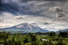 Where I live...Carbondale Colorado, Mount Sopris reigns supreme.