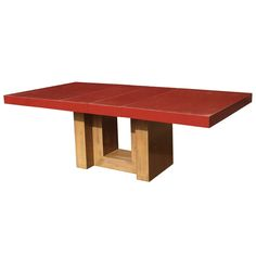 Expandable Dining Table With Red Lacquered Top by Paul Laszlo ca1940's