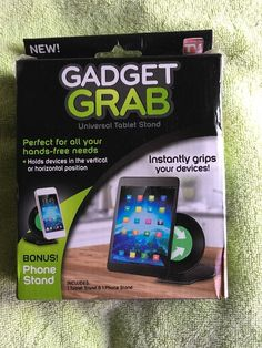 AS SEEN ON TV Gadget Grab Universal Tablet Stand with BONUS Phone Stand Holder  740275045022 | eBay