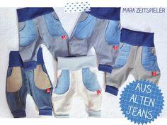 Mara Zeitspieler: Upcycling: Kinderhosen aus alten Jeans