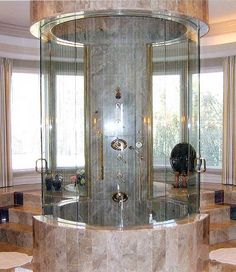 I do love this shower.  It won't fit in any space I currently have unless I turne a bedroom into a bathroom.