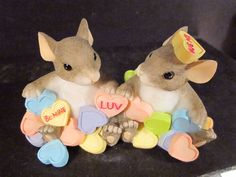 """Charming Tails """"YOU'RE MY SWEET HEART"""" 84/116 Mouse Heart Candy."""