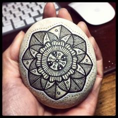 Painted rock.